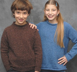 Tweeny Pullover pattern for teens by Cabin Fever