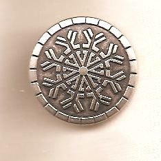 Metal Snowflake Button