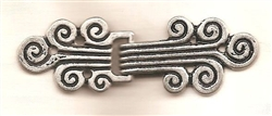 Art Deco Scroll Metal Clasp