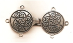 Pewter Celtic Spiral Clasp