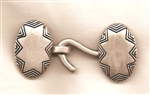 2 Piece Metal Oval Star Clasp