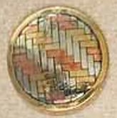 Metal Basketweave Motif Button