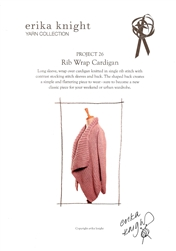 Rib Wrap Cardigan by Erika Knight