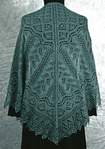 Fern Glade Shawl Knitting Pattern By Fiddlesticks Knitting
