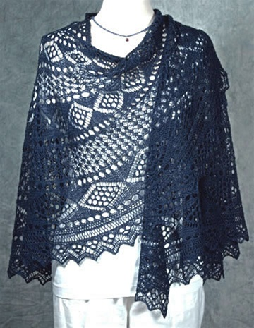 Knitted Flowers Free Patterns : Shetland Swirl Shawl pattern by Fiddlesticks Knitting