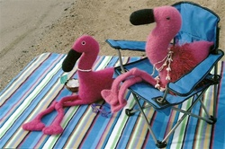 Felt Flamingo Beach Party Fiber Trends Pattern
