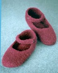 Crocheted Felt Ballet Slippers