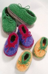 Crochet Felt Slippers for Children