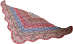 Flower Meadow Triangular Shawl by Jojoland
