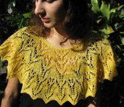 In The Garden Capelet by Ilga Leja