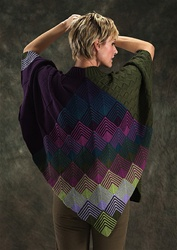 Merino 6 Mitered Vee Capelet by Jane Slicer Smith