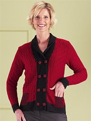 Merino 8 Double Breasted Basket Stitch Jacket by Jane Slicer-Smith