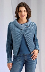 Merino 8 Two Tone Drape Wrap with Sleeves by Jane Slicer Smith