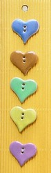 Multi-colored heart buttons