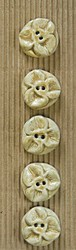 Embossed large flower buttons