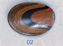 Button Large Oval Concave Wood size 54