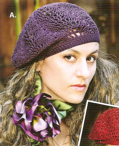 Slouchy Lace Berets To Knit Crochet Pattern From Stitch Diva Studios