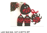 Lady Bug Bag Hat & Mitts