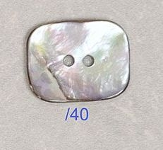Natural Awabi Shell Rectangular Button 40