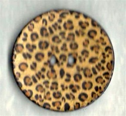 Large Leopard pattern button size 64
