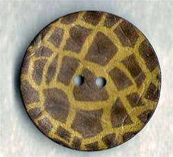 Large Giraffe pattern button size 64