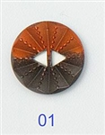 Medium Sunburst Button Copper