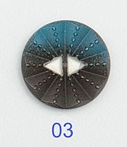 Medium Sunburst Button Royal
