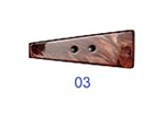 Large Wine Red Marble Toggle Button