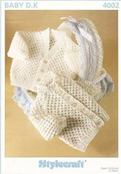 Stylecraft Baby Pattern 4002