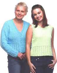 Stylecraft Tank Top & Cardigan Pattern 8028