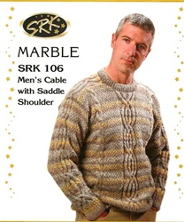 Men's Cable Sweater with Saddle Shoulder
