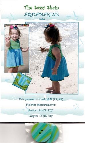 Aquamarine Toddler Dress Knitting Pattern By The Sassy Skein