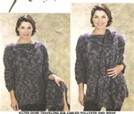 Dune Traveling Rib Cabled Pullover and Wrap Trendsetter Pattern 2709
