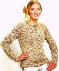 Dune Lace Edge Classic Pullover Trendsetter Pattern 3139