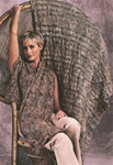 Dune & Tonalita Reversible Cabled Wrap & Throw Trendsetter Pattern 3535