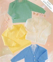 Stylecraft/UKHK Assn Baby Sweater with Variations