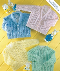 UKHK Raglan Lace & Cable Baby Sweaters