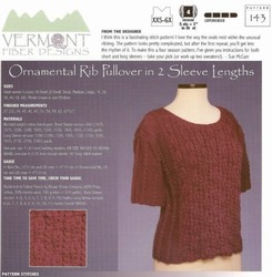 Ornamental Rib Pullover in 2 Sleeve Lengths