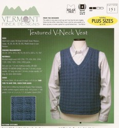 Man's Textured V-Neck Vest