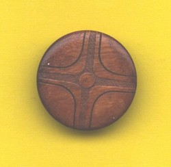Button Med Wood Shield 44