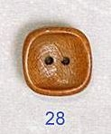 Square Wood Button 28