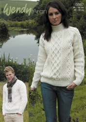 His and Hers Double Cable Sweater