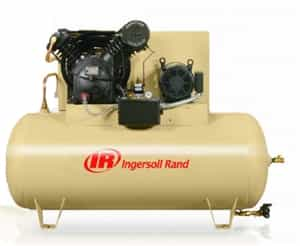 Ingersoll Rand 2545E10-V 10HP 2-Stage 120Gal Horizontal Air Compressor