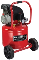 General International AC1104 2HP 11G Vertical Elec Air Compressor w/Wheels