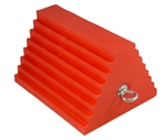 "AME International 15324 Urethane Orange Wheel Chock, Tire Size 27"" to 32"" - AME-15324"