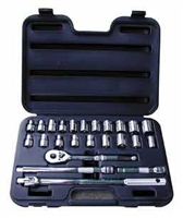"ATD Tools 1/2""D 24pc 6-Point SAE/Metric Socket Set ATD-1360"