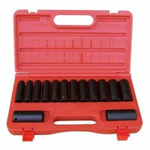 "ATD Tools 1/2""D 14pc 6-Point Metric Deep Impact Socket Set ATD-4301"