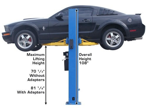 Atlas® BP8000 Floor Base-Plate 2 Post Lift 8,000 lbs