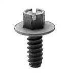 "Auveco Products 16421 Slotted Hex Washer Head License Plate Screw, #14 x 5/8"", Package Of 50 - AUV-16421"