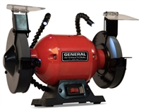 "General International BG6001 6"" 2A Bench Grinder w/Twin LED Work Lights"